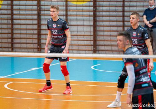 Przegrana w Krośnie na koniec rundy zasadniczej II ligi.